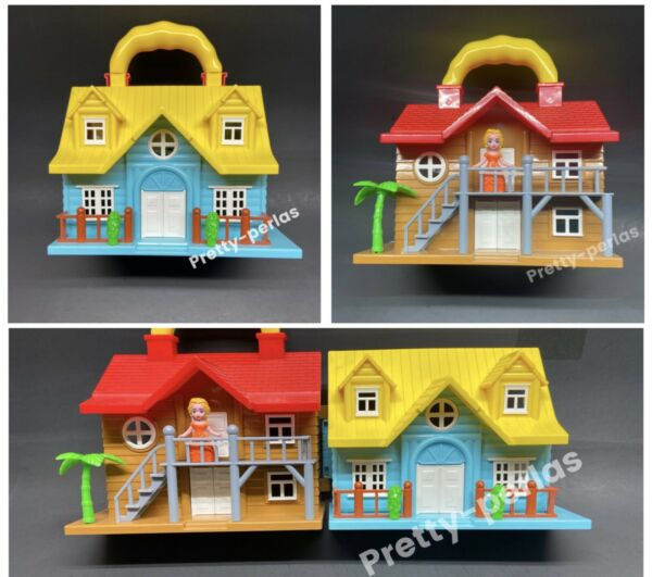 Travel Cute Carrying Girls Pretend Play House Doll Dollhouse with Furniture