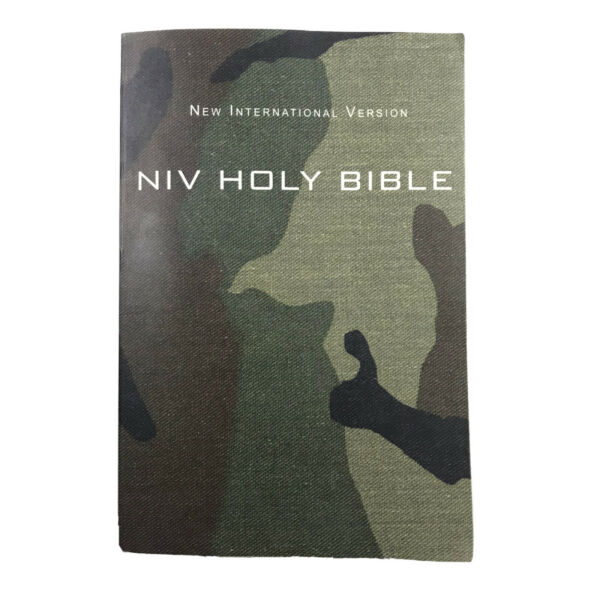 The Bible NIV Camo Cover Military Zondervan $9.00