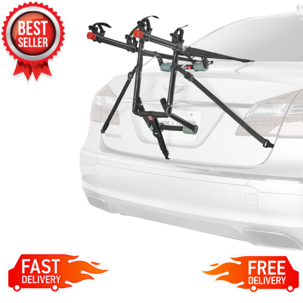 2 Bike Trunk Rack Rear Mount Two Bikes Carrier Car SUV Bicycle Sedans Sturdy NEW $46.47