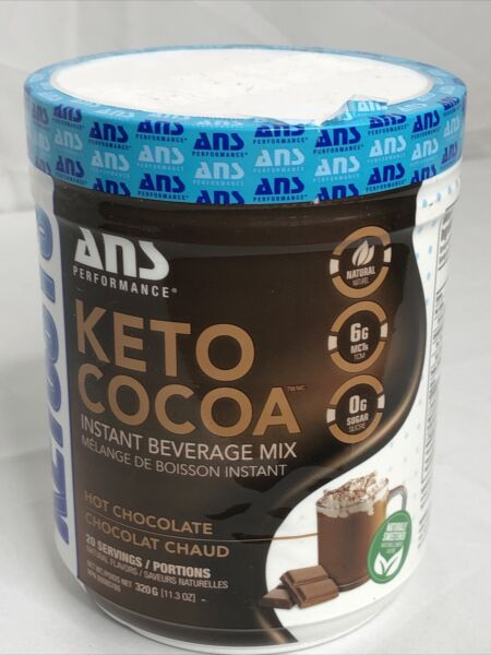 Ans Performance Keto Cocoa Instant Beverage Mix Hot Chocolate 20 Servings $24.69