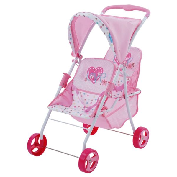 Hauck Love Heart Twin Doll Toy Stroller Kids toy Playtime on the go. Ship Free $44.07