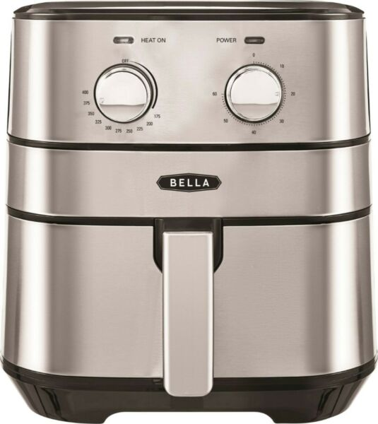 Bella 4 qt. Analog Air Convection Fryer Stainless Steel FREE SHIPPING