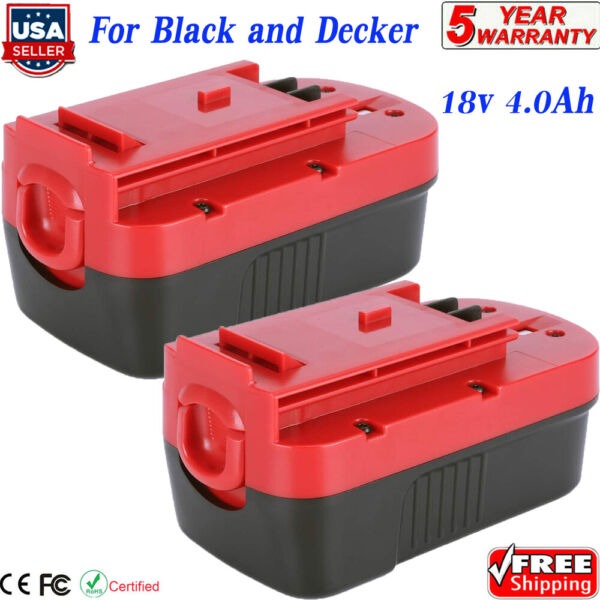 2PCS for Black amp; Decker HPB18 18V 18Volt 4.0Ah Ni MH Battery HPB18 OPE 244760 00