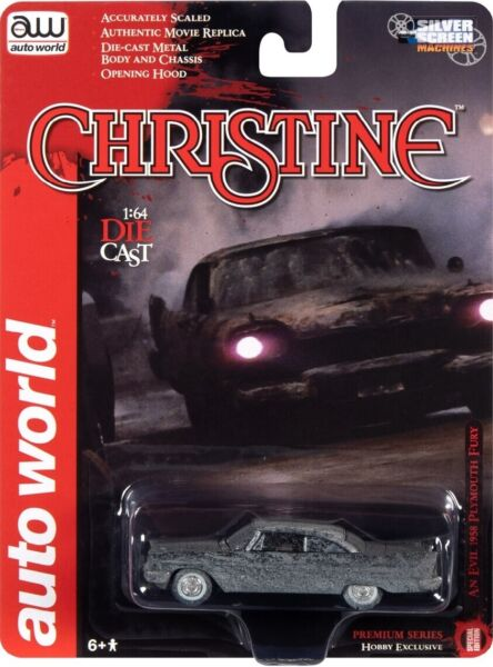 Auto World 1:64 1958 Plymouth Fury Christine After Fire Burned Die Cast Car AWSP