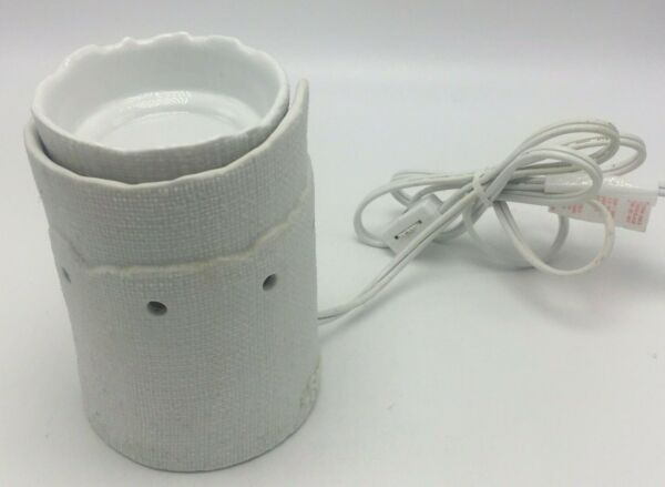Scentsy Edge Burlap Textured Full Sized Scented Wax Warmer 29131