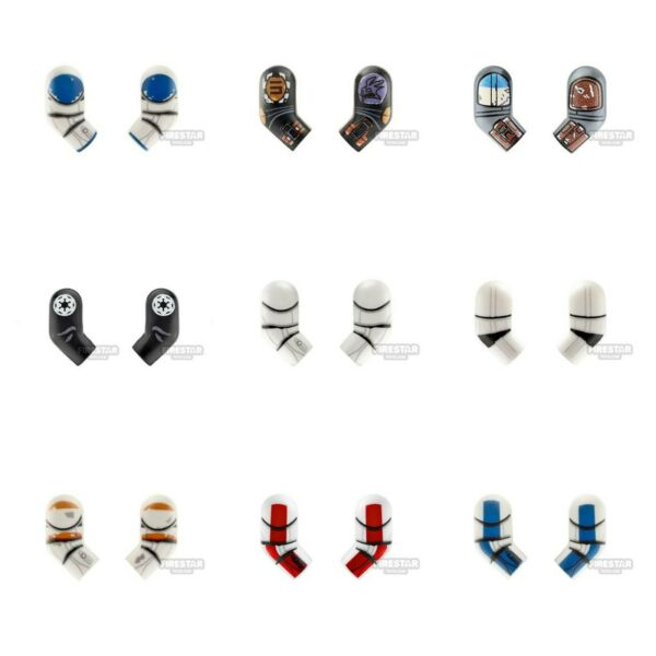 Custom Lego CLONE ARMS W Printing for Minifigures Pick Color Rex 212 501st $3.75