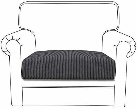 Stretch Cushion Cover Furniture Protector Sofa Slipcover with Elastic Bottom $12.98
