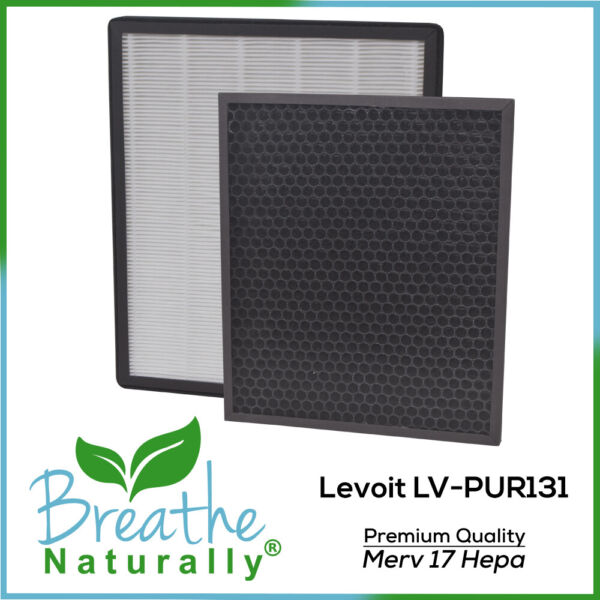 Levoit LV PUR131 MERV 17 Replacement Hepa Carbon Filters for Levoit Purifiers $23.99