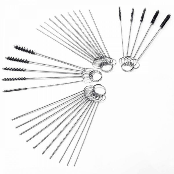 Carb Carburetor Cleaner Cleaning Brushes Kit Small Wire Brush 20 Needles 10 $20.99
