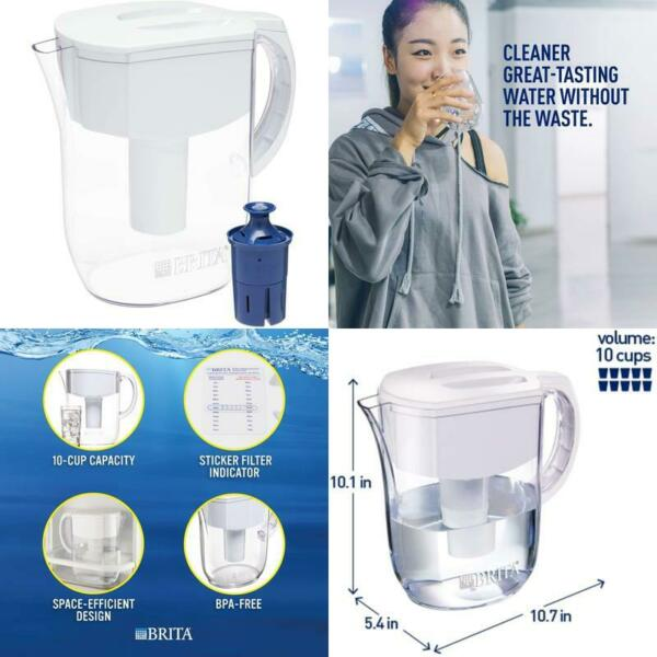 Brita Everyday Pitcher With 1 Longlast Filter Large 10 Cup White