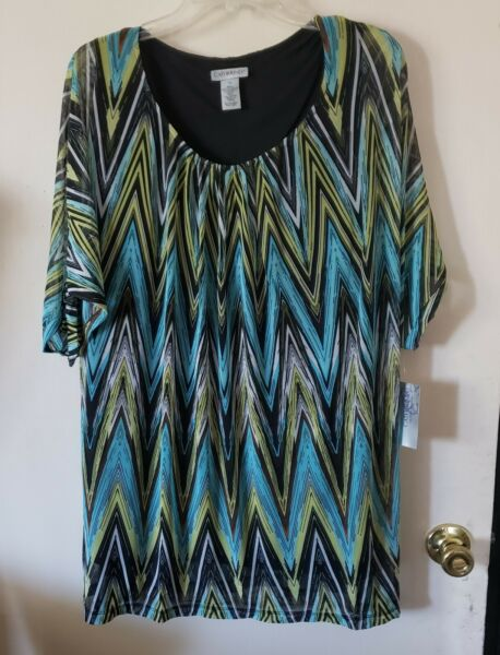 WOMENS PLUS SIZE TOP 5X TOP NWT CATHERINES $14.99