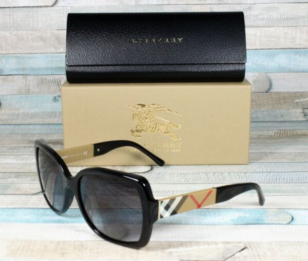 BURBERRY BE4160 34338G Black Grey Gradient 58 mm Women#x27;s Sunglasses $117.95