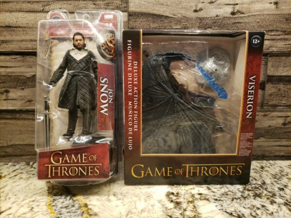 McFarlane Toys Game of Thrones Deluxe Box Viserion amp; John Snow Lot Of 2 NEW