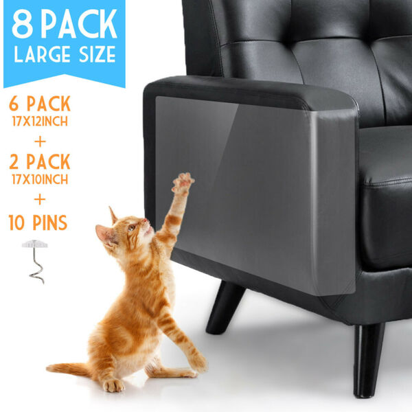 8PC Cat Furniture Scratch Guards Couch Protector Anti Scratch Deterrent Pad Tape $10.99