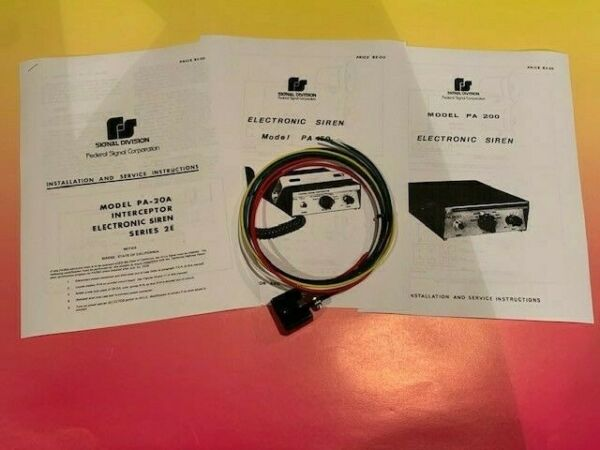 Federal Signal PA20 PA150 PA200 siren cable NEW