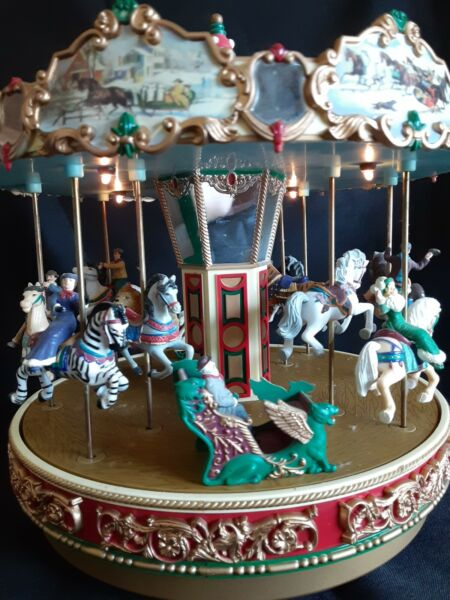 Mr Christmas quot;The Carouselquot; Plays 30 Songs In Box Merry Go Round 1997 Works
