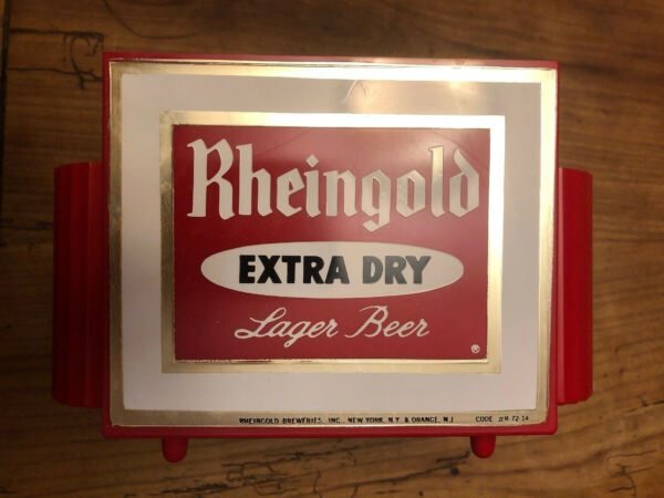 Vintage Collectible Plastic Rheingold Beer Bar Napkin Holder