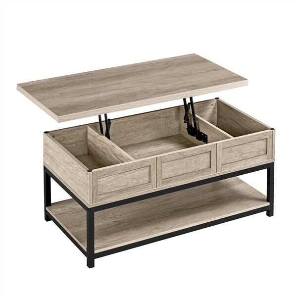 Wooden Lift Top Coffee Table w Hidden Storage amp; Bottom Shelf For Living Room