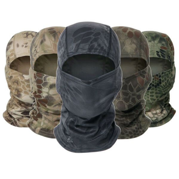 Anti UV Windproof Balaclava Hat Motorcycle Cycling Camo Face Mask Neck Cover