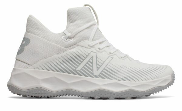 New Balance Men#x27;s FreezeLX 2.0 Turf Lacrosse Shoes White with Silver $29.99