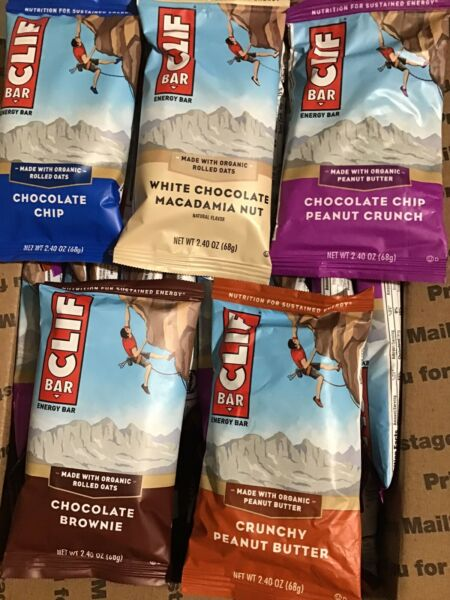 50 Assorted Flavors CLIF ENERGY Organic Rolled Oats PROTEIN BARS BBD 4 9 2020