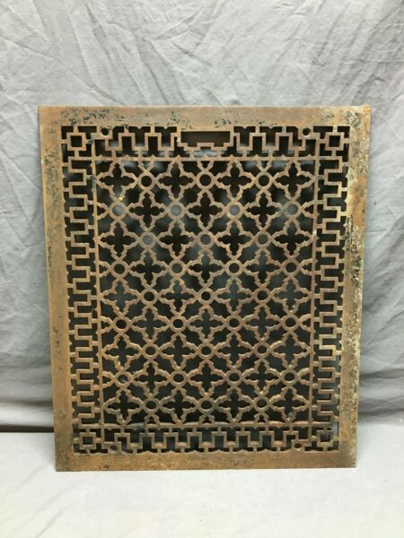 Antique 20x24 Cold Air Return Heat Cast Grate Grill Gothic Floor Vent 1114 20B
