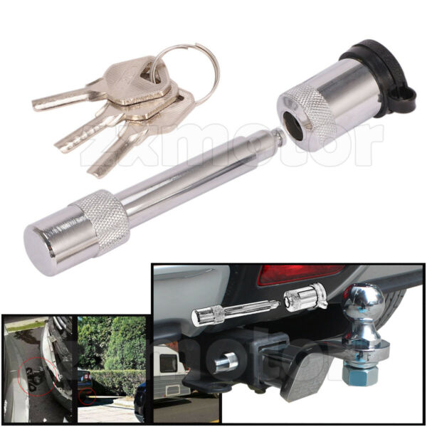 Hitch Pin Lock with 3 Keys 5 8quot; Truck Trailer Receiver for 2quot; Towing Receiver $12.59