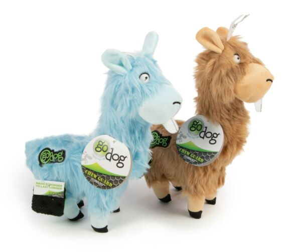 Chew Toy 2 pack Go Dog Blue and Tan LLamas $8.99