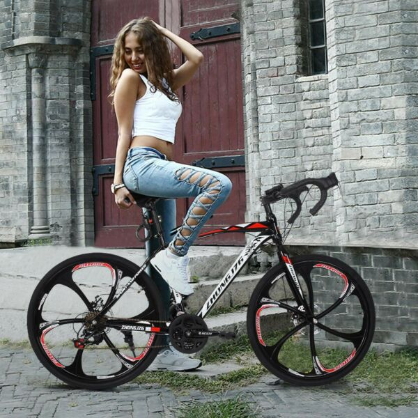 Full Suspension Road Bike Mountain Bike 26quot; 21 Speed Bicycle MTB Cycling $372.70