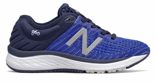 New Balance Kid#x27;s 860v10 Big Kids Male Shoes Navy with Blue amp; Blue
