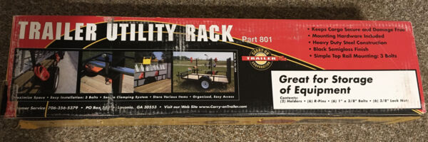 3 Place Weedeater Trimmer Trailer Rack Enclosed Trailers Lockable USA Made $155.75