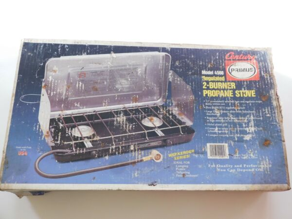 Vintage Century 2 Burner Propane Stove Model 4560 With Box