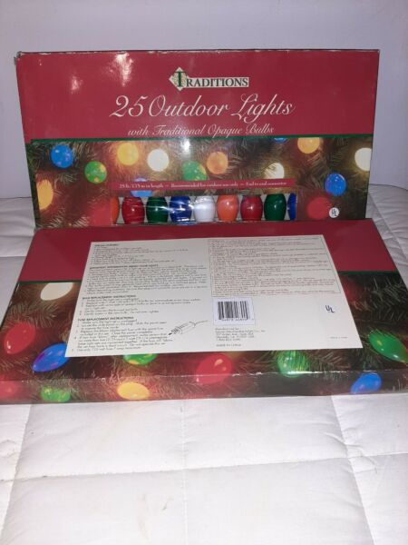 Christmas Light Traditions Lot Of 2 Outdoor Sets 25 C9 bulb Lights 25 ft $35.99
