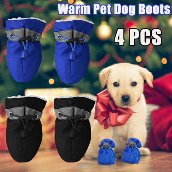 Pet Shoes Breathable Anti Slip Small Dog Shoes Puppy Boots Paw Protective 4Pcs $8.97