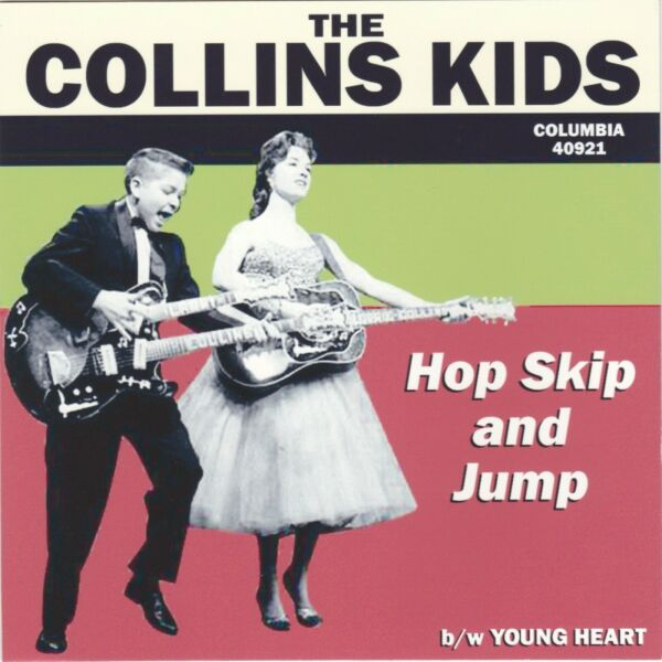 The Collins Kids quot;Hop Skip And Jumpquot; 1957 Columbia 40921 Record amp; Custom Pic Slv