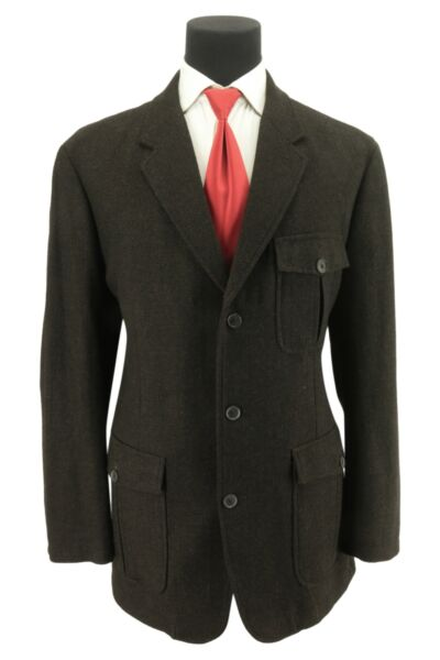Tailored Men#x27;s 3 2 Roll Norfolk Action Back Elbow Patches Tweed Jacket Size 48 $175.00
