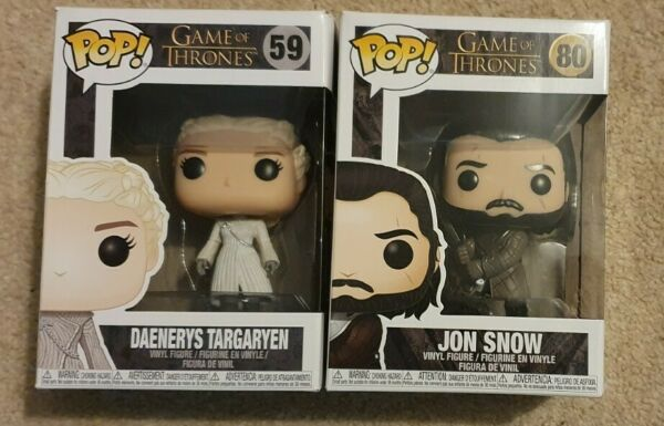 Funko Pop Game of Thrones John Snow and Daenerys Targaryen bundle