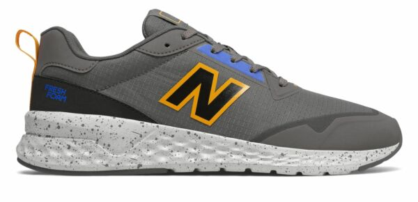 New Balance Men#x27;s Fresh Foam 515 Sport v2 Shoes Grey with Yellow amp; Blue $34.88