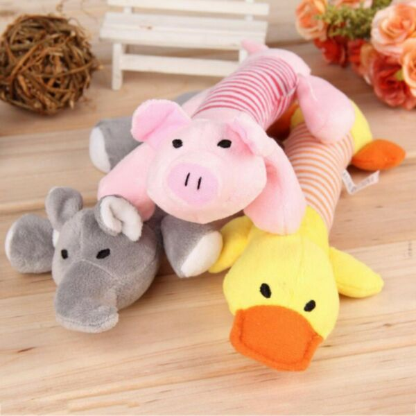Pet Chew Toy Dog Puppy Squeaker Squeaky Soft Cute Plush Play Sound Teeth Toys $7.35