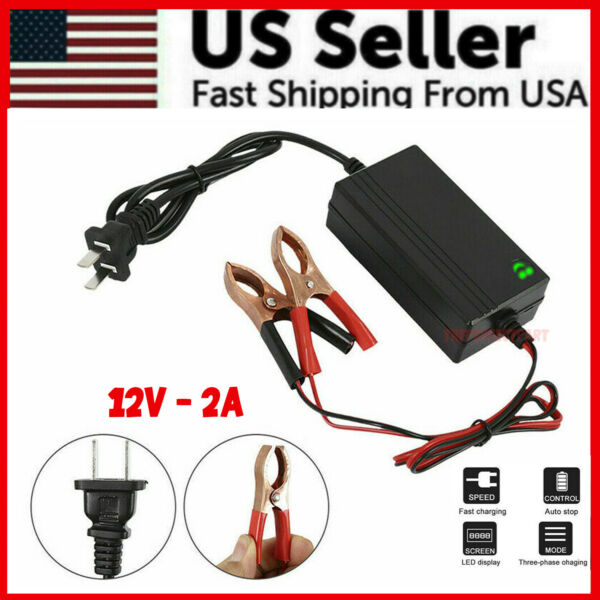 Portable 12V Auto Car Battery Charger Tender Trickle Maintainer Boat Motorcycle $9.87