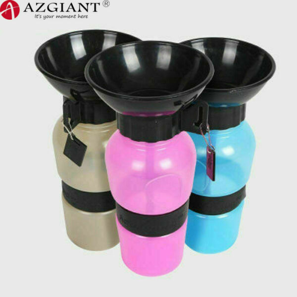 500ml Dog Drinking Outdoor Travel Water Bottle Pet Puppy Cat Portable Feed Bowl $7.59