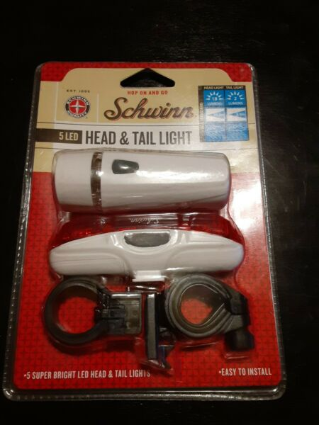 Schwinn 5 LED Head And Tail Light new in Package Nip Nos bicycle accessories wow $10.99