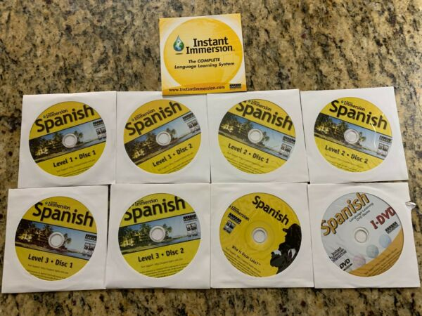 Instant Immersion: Levels 1 2 amp; 3 Family Spanish Complete Edition Audio CD#x27;s $8.00