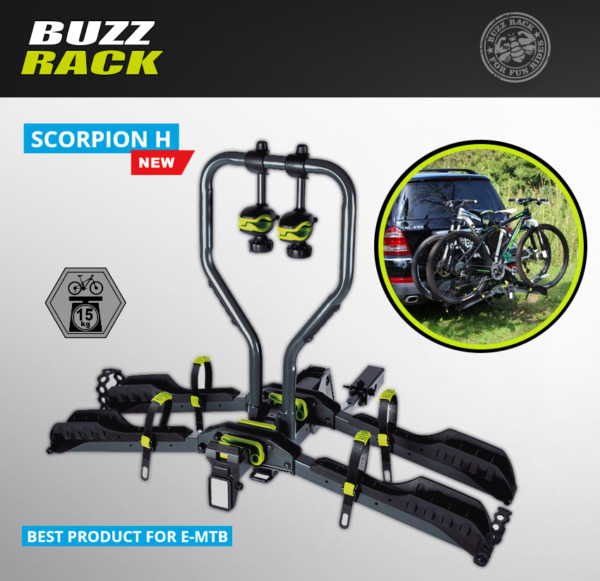Buzzrack Scorpion H Approach 1.25quot; or 2quot; 55 pound Max Weight Per Bike Bike Rack $379.99