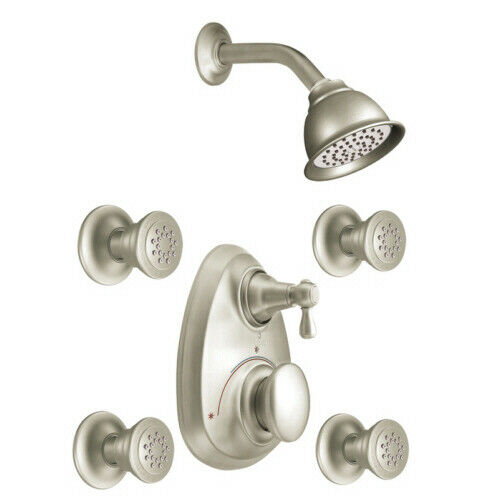 MOEN MONTICELLO ONE WALL VERTICAL SPA SET IN SATINE FINISH $329.95