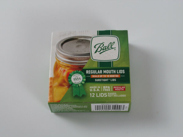 Ball Regular Mouth Canning Mason Jar Lids 12 Pieces per Pack 1 Pack NEW Sealed