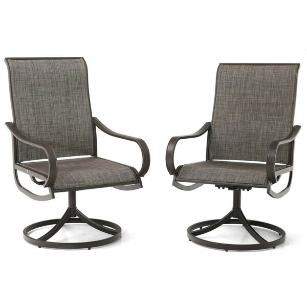 Patio Chair Set of 2 Metal Rocker Swivel Chair Outdoor Furniture for Garden Lawn $205.99