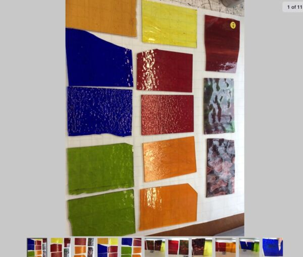 """#005 Lot Of 13 MIXED Pieces 6x4"""" Stained Glass Sheet SHIPS FREE PICSRLikeUGet"""