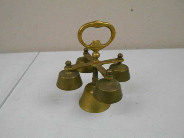 Solid Brass Bells 5 Bells with Handle $17.95