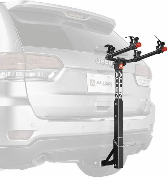 Allen Sports Deluxe 2 Bike Hitch Mount Rack Silver Black 522RR $96.00